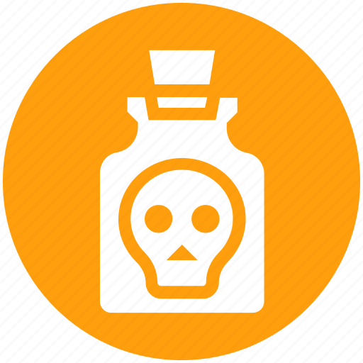 bottle, deadly, poison, potion, skull, toxic, weaponry icon