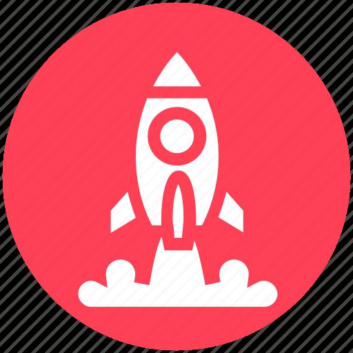 missile, rocket, rocket launch, science, spacecraft, spaceship, startup icon