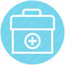 aid, bag, first, kit, medical, science icon