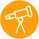 astronomy, planetarium, science, spyglass, telescope, view, vision icon