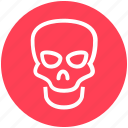 danger, death, halloween, head, science, skeleton, skull icon