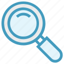 explore, find, magnifier, research, science, study icon