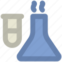 conical flask, culture tube, lab accessories, lab flask, lab glassware, sample tube, test tube icon