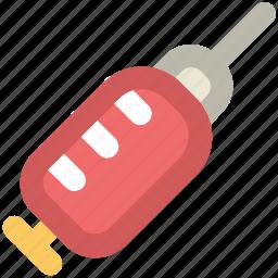 injection, inoculation, intravenous, intravenous antibiotics, syringe, vaccination icon