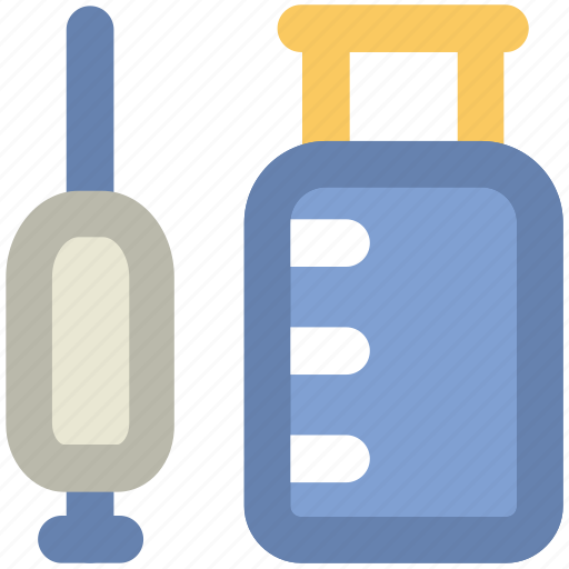injection, inoculation, intravenous, intravenous antibiotics, syringe, vaccination icon