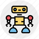 automation, robot, robot face, science, technology, working icon