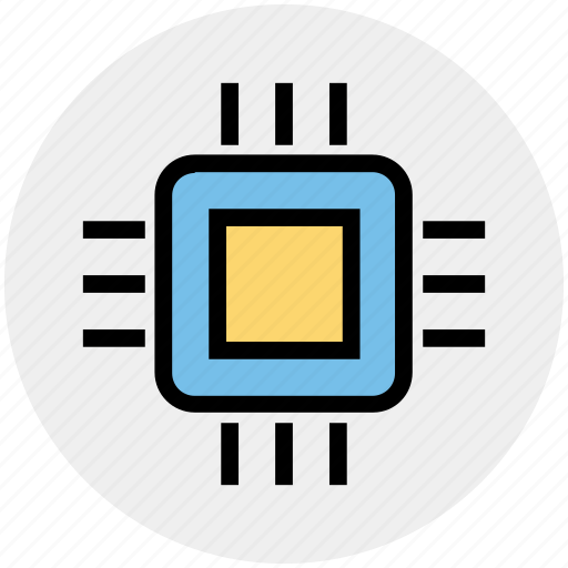 Electronic, chip, processor chip, memory chip, microprocessor icon