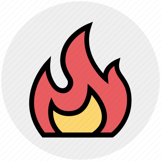 Burning, fire, firing, flame, heat, hot, science icon - Download on Iconfinder