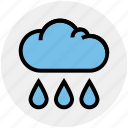 cloud, drops, rain, rain drops, raining, sky, weather icon