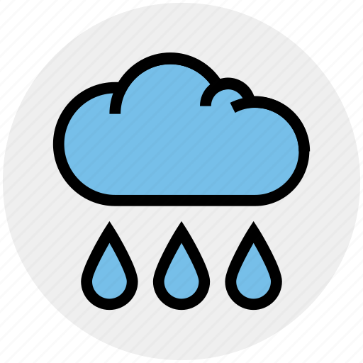 Cloud, drops, rain, rain drops, raining, sky, weather icon - Download on Iconfinder