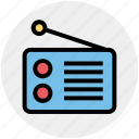 electronics, media, radio, radio set, transmission, voice icon