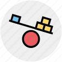 balance, level, science, seesaw, teeter totter, teeterboard icon