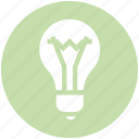 bulb, electric bulb, illumination, light, light bulb, science icon