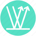 arrows, graph, math, science, up and down, wave, waves icon