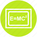 education, einstein formula, emc2, formula, physics, science, science formula icon