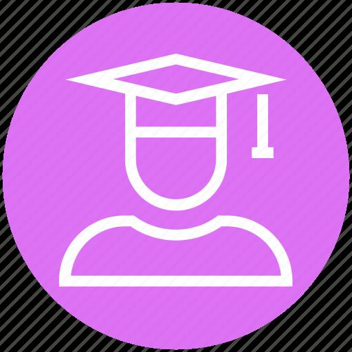 cap, education, graduate, graduation, science, student icon