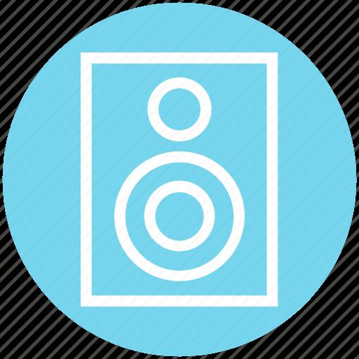 Electronics, music, sound, speaker, subwoofer, woofer icon - Download on Iconfinder