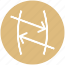 arrows, chemistry, formula, math, physics, science icon