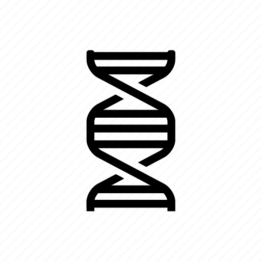 biology, chemistry, dna, dna stand icon