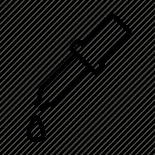 drop, pipet, pipette, test icon