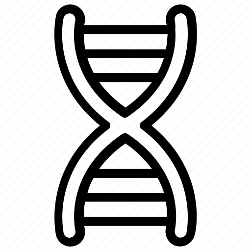 biology, dna, dna helix, dna structure, genetics, science icon