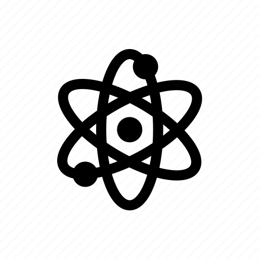 atom, education, learning, raw, science, simple, study icon