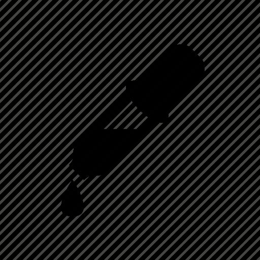dropper, pipette, science icon