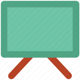 black board, easel, projection screen, whiteboard, writing board icon