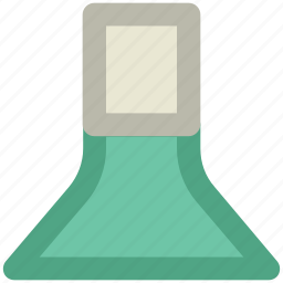 conical flask, elementary flask, erlenmeyer flask, flask stand, lab accessories, lab equipment, lab flask icon