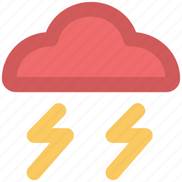 climate, cloud, thunder, thunder storm, thunderbolt, weather icon