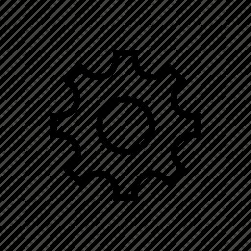cog, cogwheel, mechanical, science icon