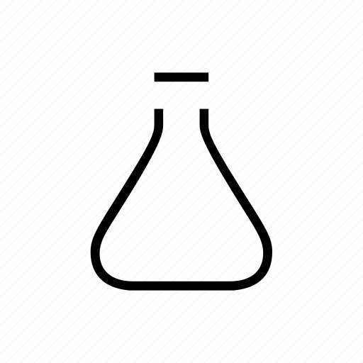 Flask, science, conical icon