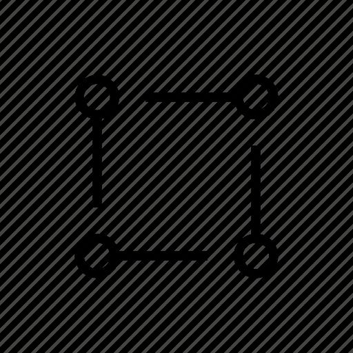 chain, nodes, science icon