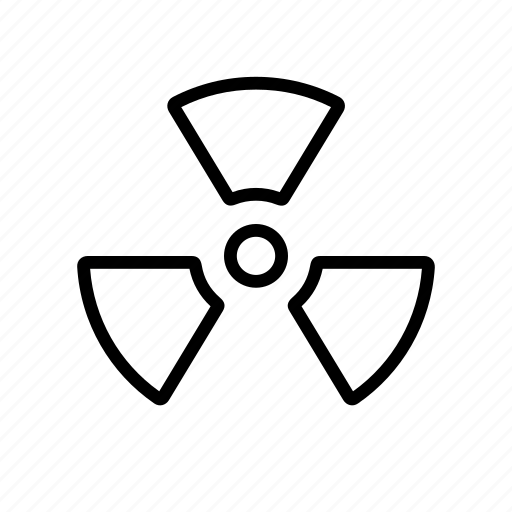 active, atom, nuclear, radiation, radio, science icon