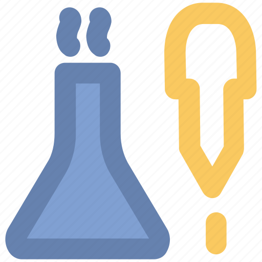 chemical dropper, color picker, dropper, lab flask, lab test, laboratory tool, pipette icon