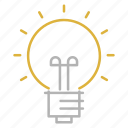 bulb, education, idea, science, study icon