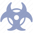 biohazard, danger, hazard, nuclear, toxic icon