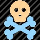 danger, death, halloween, head, science, skeleton, skull icon