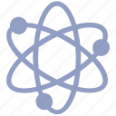 atom, atom bond, atomic, electron, genius, molecular, science icon