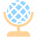 desk globe, education, globe, map, science, table globe, world map icon