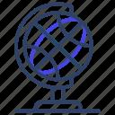 table globe, earth, sphere, orbit, map