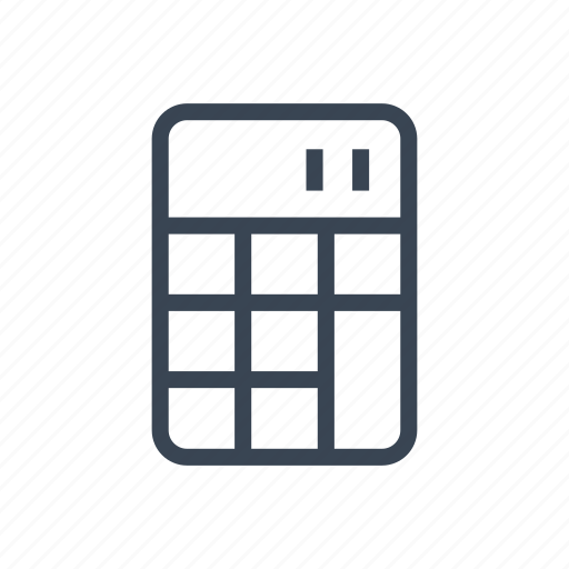calculator, math, mathematics icon