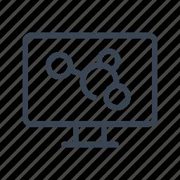 atom, computer, electron, molecule, research, science icon