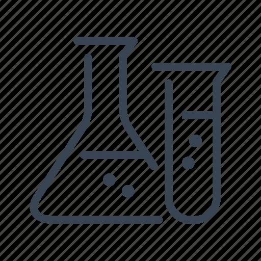 beaker, glassware, laboratory, science icon