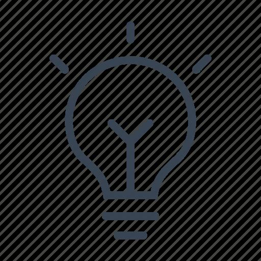 bulb, genius, idea, light icon