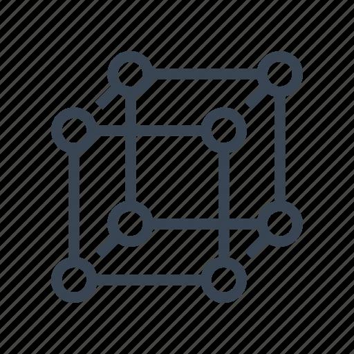 cells, molecular, molecule, science, structure icon