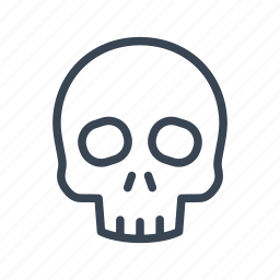 death, skeleton, skull icon