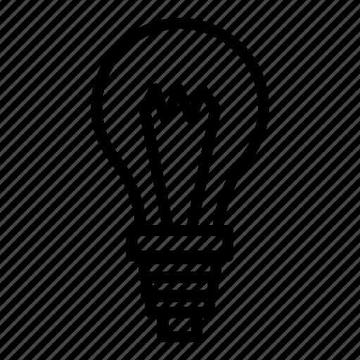 lightbulb, physics icon