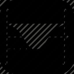 cosine, gaph, line, negative, sine icon