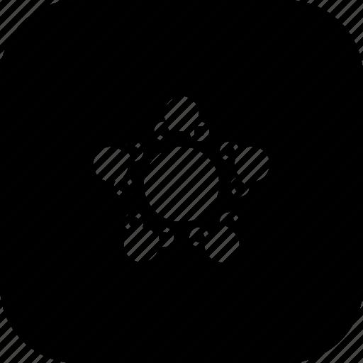 atom, circle, mole, molecule, science, small icon